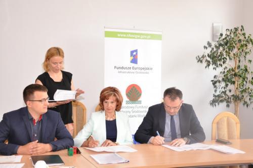 Podpisanie umowy z NFOŚiGW w Warszawie - 1